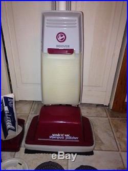 Vintage Hoover Floor Scrubber Shampoo Polisher Brushes And
