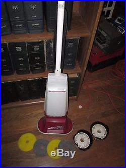 Vintage Hoover Floor Scrubber Shampoo Polisher F4255 with Brushes and Pads