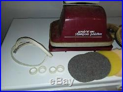 Vintage Hoover Floor Shampoo Polisher withSuper Tank withBrushes, Pads