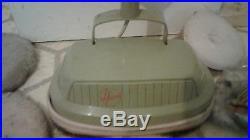 Vintage Hoover Model 5332 Floor Polisher/Scrubber With Spare Pads Works