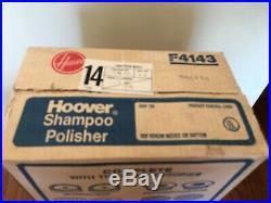 Vintage Hoover Model F4143 Floor Shampoo Polisher Super Tank Brushes Pads NEW