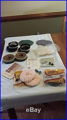 Vintage Hoover Shampoo Floor Polisher Attachments Pads Brushes Kit