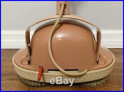 Vintage Mid-Century Hoover Floor Polisher 5130 in Mauve Pink with Brushes & Pads