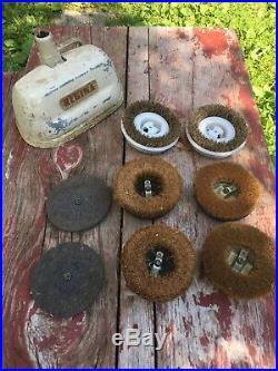 Vintage Regina Heavy Duty Carpet Shampoo Floor Polisher Scrubber Brushes Pads