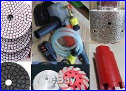 Wet Polisher 1 3/8 core bit grinding drum cup polishing pad stone masonry floor