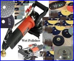 Wet Polisher 5 Diamond Resin Polishing 28 Pad 2 Buff Granite Marble Floor Tile