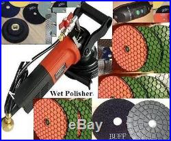 Wet Polisher Ultra Thick floor counter 38 pad 2 buff concrete stone travertine