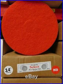 (bulk Lot 225 Pads) Commercial Floor Buffer Scrub Polish Scour Pad 14 Red