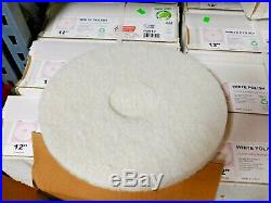 (bulk Lot 290 Pads) Commercial Floor Buffer Scrub Polish Scour Pad 12 White